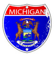 michigan flag icons as interstate sign vector image vector image