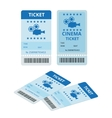 Modern cinema tickets isolated on write background vector image vector image