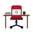 office with computer vector image vector image