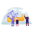 oil and gas industry concept with man character vector image