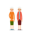 old woman two senior elder women stand with vector image vector image