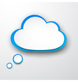Paper white-blue cloud vector image