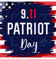patriot day usa card brush paint blue vector image vector image