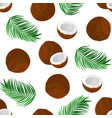 pattern with coconut vector image vector image