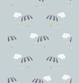 pattern with umbrella vector image vector image
