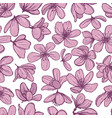 pink blossom flowers on white background vector image vector image