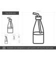 pop drink line icon vector image vector image