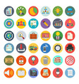 project management colored icons vector image vector image