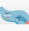 protect health vaccination campaign concept vector image