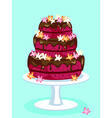 Red velvet cake card vector image