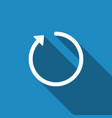 refresh icon isolated with long shadow vector image