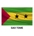 sao tome flags design vector image