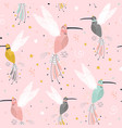 seamless childish pattern with fairy collibi vector image