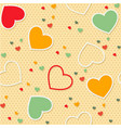 seamless pattern background valentine heart vector image vector image