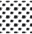Seamless pattern of black cup vector image vector image