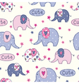 Seamless pattern with cute abstract elephants vector image vector image