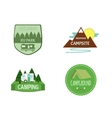 set adventure outdoor activity tourism travel vector image