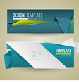 Set of modern design banners vector image vector image