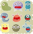 Set Of Monster vector image vector image