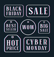 set of sale discount tags labels emblems vector image