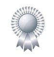 Silver rosette vector image vector image