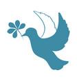 sketch of pigeon bird flying hand drawn stock vector image vector image