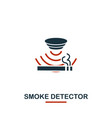 smoke detector icon from sensors icons collection vector image vector image