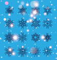 Snowflake Set Christmas and new year concept vector image vector image
