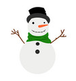 snowman cartoon winter icon vector image