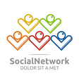 social network people colorful design symbol vector image