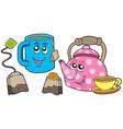 tea collection vector image