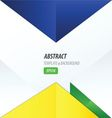 triangle design yellow blue green vector image vector image