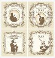 vintage frame - jazz musician vector image