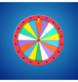 wheel fortune isolated vector image