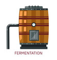 winemaking fermentation barrel grape alcohol drink vector image vector image