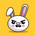 cute rabbit character kawaii style vector image