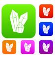 diamonds set collection vector image