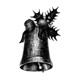 Hand drawn artistic Christmas bell for Your design vector image