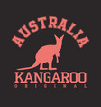 kangaroo emblem vector image