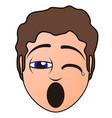 tired man avatar vector image