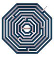 octagonal labyrinth vector image