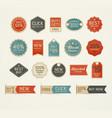 set of retro vintage badges and labels design vector image
