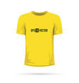 a yellow t-shirt vector image vector image