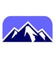 abstract mountain logo icon design vector image vector image