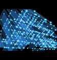 abstract technology background - cubes vector image vector image