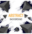 abstract triangle background design 3d flyer vector image vector image