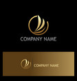 abstract wing fly gold company logo vector image vector image