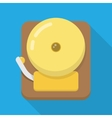 Alarm bell flat icon vector image