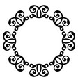 artistic black and white circle frame vector image vector image