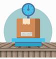 Balance with box carton packing postal service